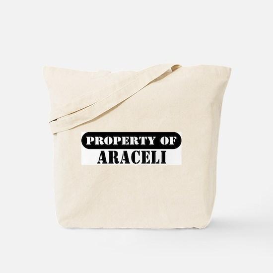 Property of Araceli Tote Bag
