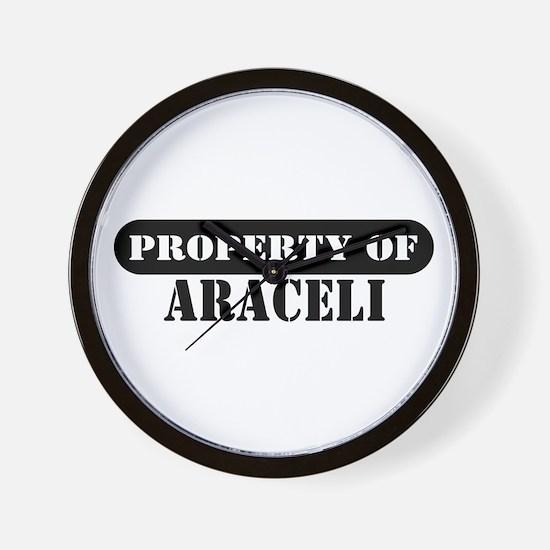 Property of Araceli Wall Clock