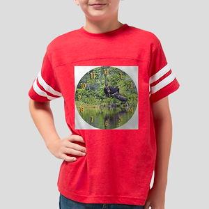 2-large wall clock Youth Football Shirt