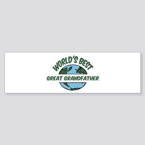 World's Best Great Grandfathe Bumper Sticker