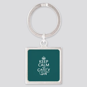 Keep Calm and Count To Ten Keychains