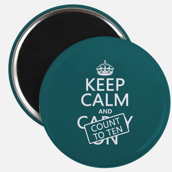 Keep Calm and Count To Ten Magnet