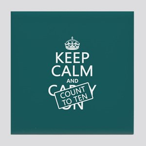 Keep Calm and Count To Ten Tile Coaster