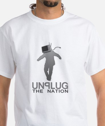 Unplug the Nation White T-Shirt