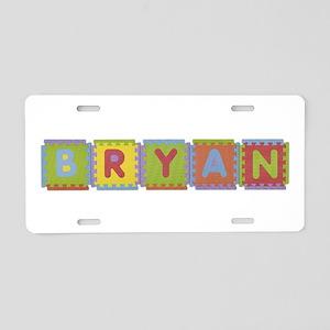 Bryan Foam Squares Aluminum License Plate