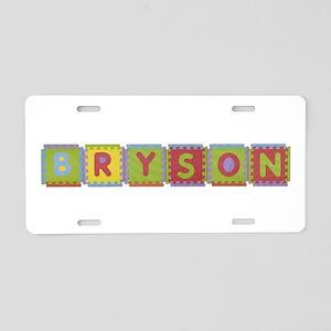 Bryson Foam Squares Aluminum License Plate