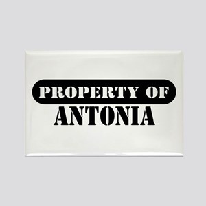 Property of Antonia Rectangle Magnet