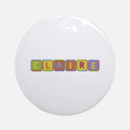 Claire Foam Squares Round Ornament