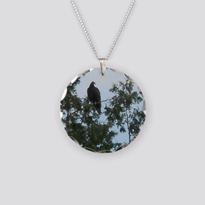 Vulture Bird Necklace Circle Charm