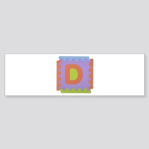 D Foam Squares Bumper Sticker