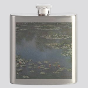 Water Lilies by Claude Monet Flask