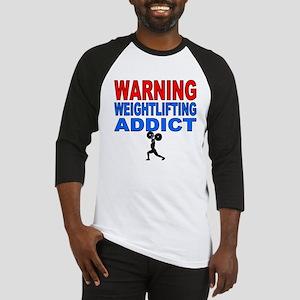 Warning Weightlifting Addict Baseball Jersey