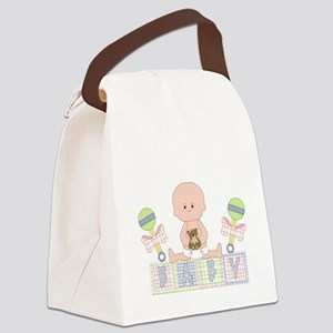 Cute Bald Baby Canvas Lunch Bag
