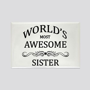 World's Most Awesome Sister Rectangle Magnet