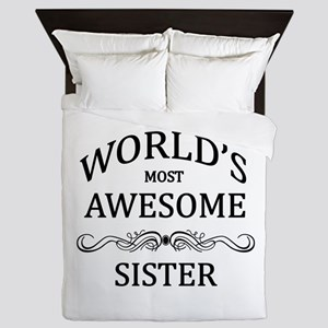 World's Most Awesome Sister Queen Duvet