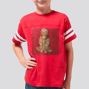 Gingerbread Mom and Child Youth Football Shirt