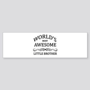 World's Most Awesome Little Brother Sticker (Bumpe