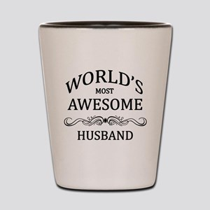 World's Most Awesome Husband Shot Glass