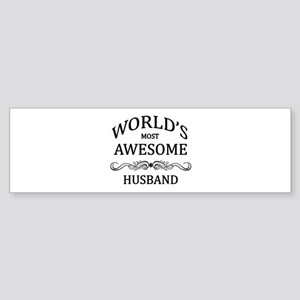 World's Most Awesome Husband Sticker (Bumper)