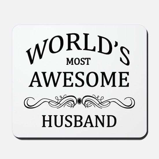 World's Most Awesome Husband Mousepad