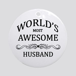 World's Most Awesome Husband Ornament (Round)