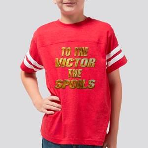 to_the_victor_blk Youth Football Shirt