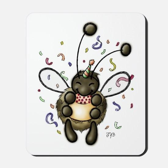 Hap-Bee Birthday Mousepad