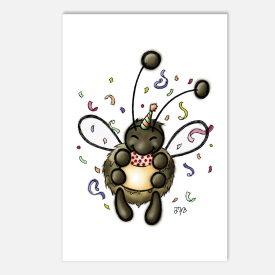 Hap-Bee Birthday Postcards (Package of 8)