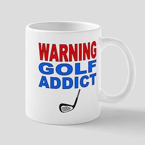 Warning Golf Addict Mug