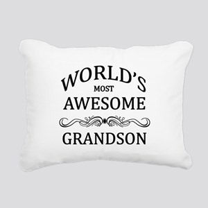 World's Most Awesome Grandson Rectangular Canvas P