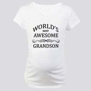 World's Most Awesome Grandson Maternity T-Shirt