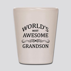 World's Most Awesome Grandson Shot Glass