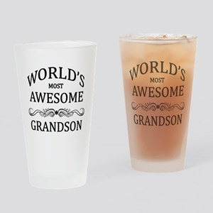 World's Most Awesome Grandson Drinking Glass