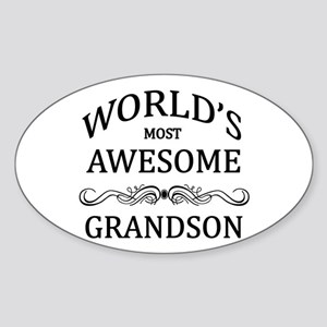 World's Most Awesome Grandson Sticker (Oval)