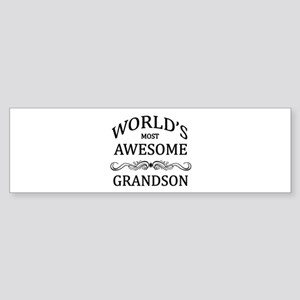 World's Most Awesome Grandson Sticker (Bumper)
