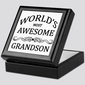 World's Most Awesome Grandson Keepsake Box