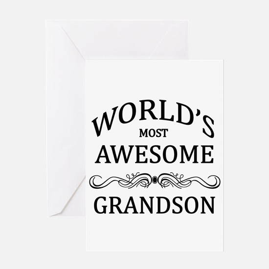 World's Most Awesome Grandson Greeting Card