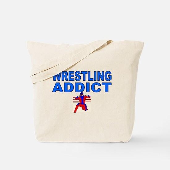 Wrestling Addict Tote Bag