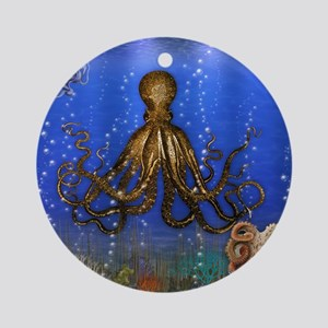 Octopus' Lair - colorful Ornament (Round)