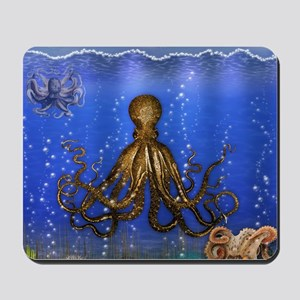 Octopus' Lair - colorful Mousepad