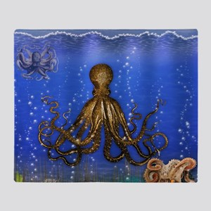 Octopus' Lair - colorful Throw Blanket