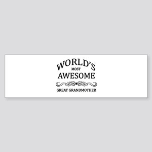 World's Most Awesome Great Grandmother Sticker (Bu