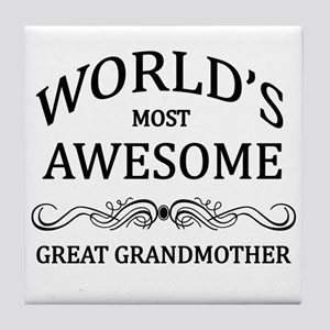 World's Most Awesome Great Grandmother Tile Coaste
