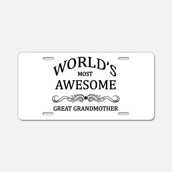 World's Most Awesome Great Grandmother Aluminum Li