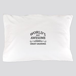 World's Most Awesome Great Grandma Pillow Case