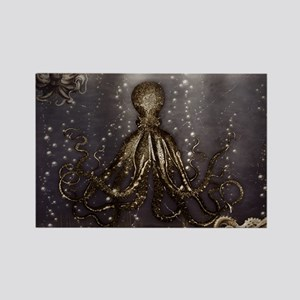 Octopus' lair - Old Photo Rectangle Magnet