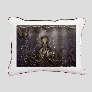 Octopus' lair - Old Photo Rectangular Canvas Pillo
