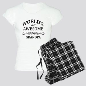 World's Most Awesome Grandpa Women's Light Pajamas