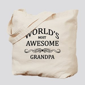 World's Most Awesome Grandpa Tote Bag