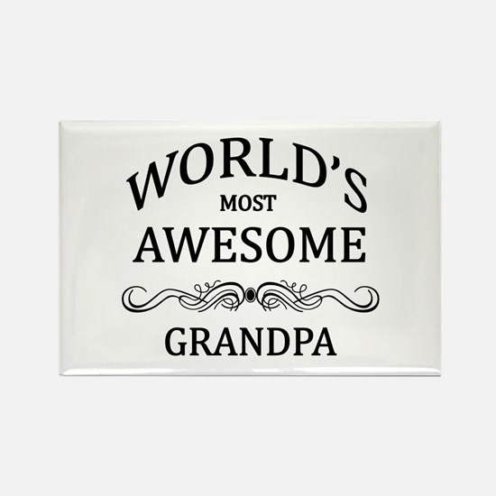 World's Most Awesome Grandpa Rectangle Magnet (10